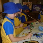 Students busy with Art Workshop