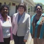 Ada Simpson, Minister Desley Boyle, Sandra Morgan