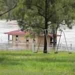 The Barambah Creek in flood