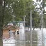 Barambah bursts its banks