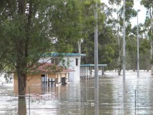 Barambah bursts its banks