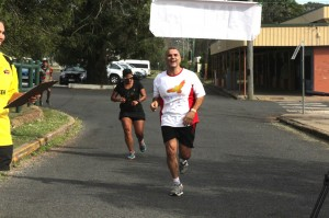 Dr Chris Sarra from the Stronger Smarter Institute finishing strongly.