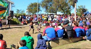 The Barambah dancers perform