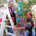 Jodi & M<yra up the ladder
