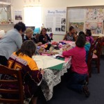 Teaching Shaftesbury students to sew