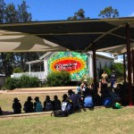 School students using our Shade Sails