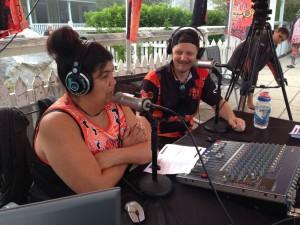 UsMob radio - Chrissy B and Michael