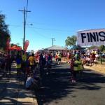 Festive finish line