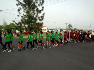 Junior Rangers marching
