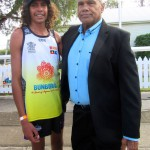 Orlyn with Mayor Arnie Murray