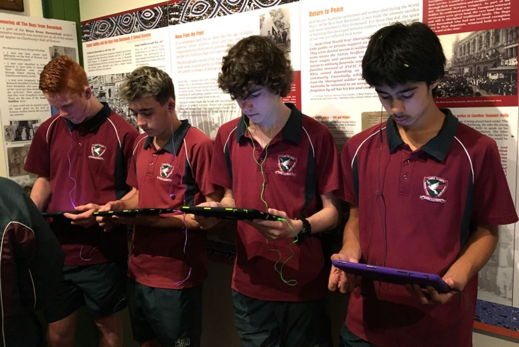ANZAC Day launch of the 'The Dilly Bag' app for the 'Boys from Barambah' exhibition