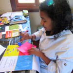 Shona working on a Shapes book